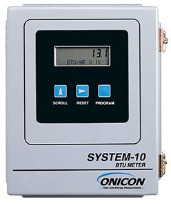 System 10 Btu Meter Onicon Flow And Energy Measurement