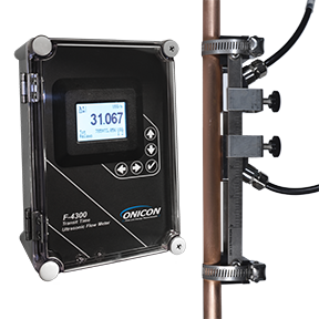 F-4300 Clamp-on Ultrasonic Flow Meter is Now Available up to 48