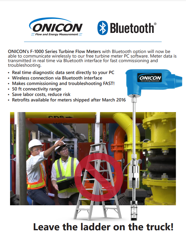ONICON F-1000 Series Now Available with Bluetooth!